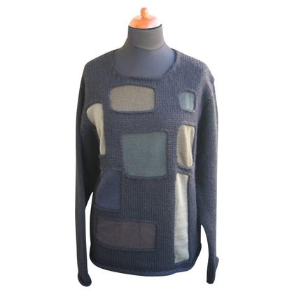 Yohji Yamamoto di spessore maglione di lana nero