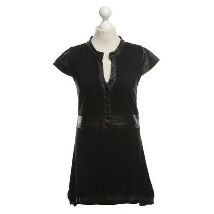 Other Designer Carell Thomas - dress with leather details