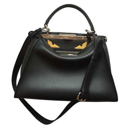 Fendi Tote Bag Peecaboo leather with python