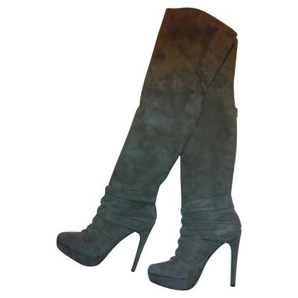 Elie Tahari Overknee-Stiefel in Taupe