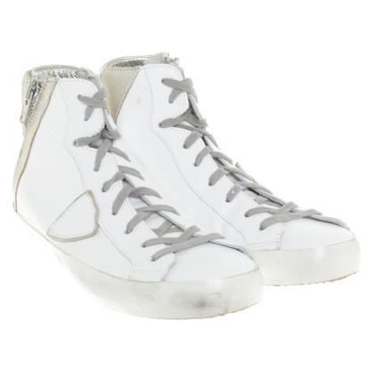 Philippe Model Chaussures de sport en blanc / argent