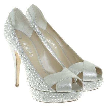 Other Designer Rodo - peep-toes with Rhinestones