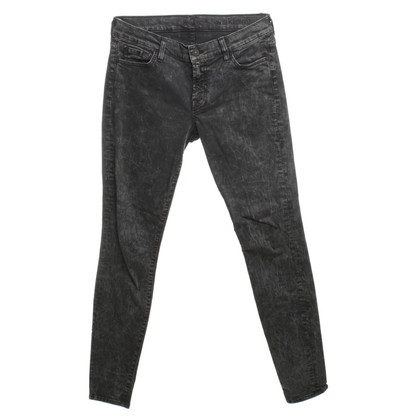 7 For All Mankind Moon washed jeans in dark grey