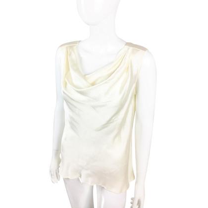 Yves Saint Laurent camicetta di seta drappeggiato