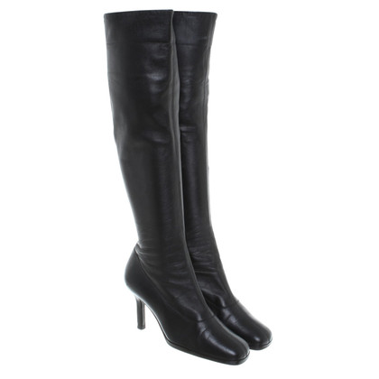 Chanel Black leather boot