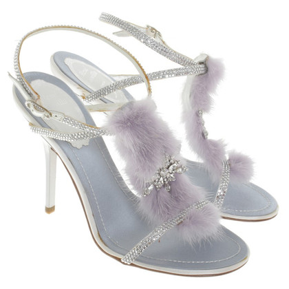 René Caovilla Sandals in Purple