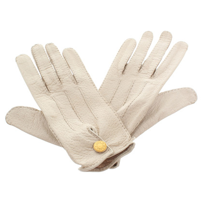 Hermès Cream colors leather gloves