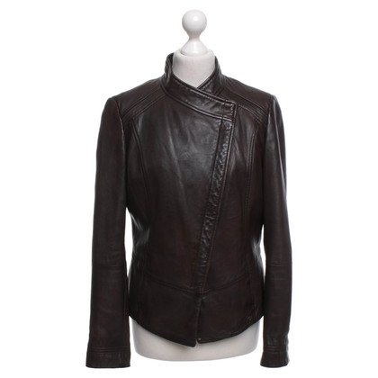 Boss Orange Leather jacket in dark brown