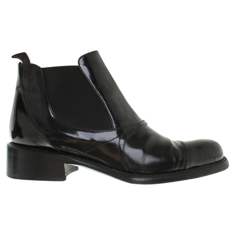 Prada Chelsea Boots in Schwarz Schwarz Verkauf Mit Mastercard jJ50JBdUsq