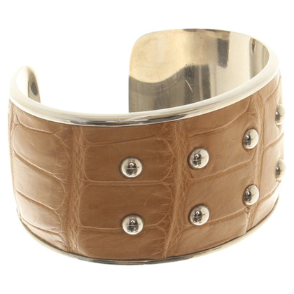 Tod's Bangle made of metal / leather