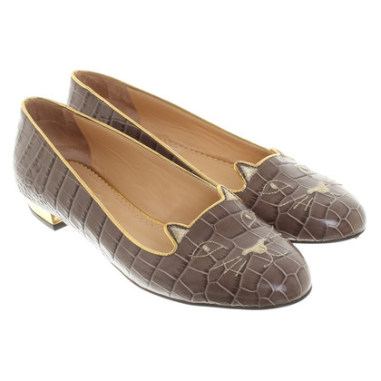 Charlotte Olympia Ballerinas in Taupe
