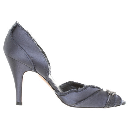 Pedro Garcia Peep-toes in grey blue