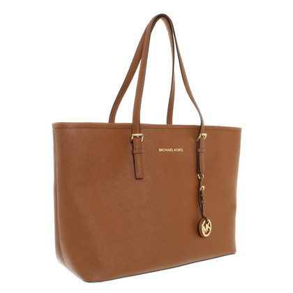"Michael Kors ""Jet Set Travel Tote"" in Brown"