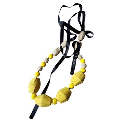 Marni Ketting in geel / beige