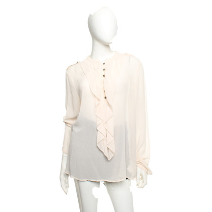 Sack's Zijden blouse in crème