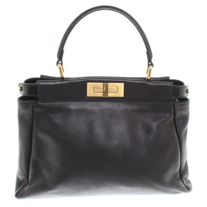 "Fendi ""Peekaboo Bag"" in zwart"
