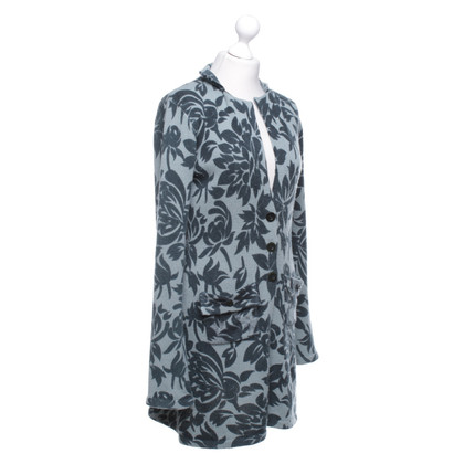 FFC Knitted coat with a floral pattern