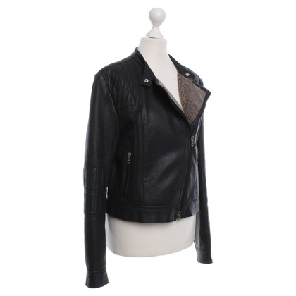 Marc Cain Leather jacket in black