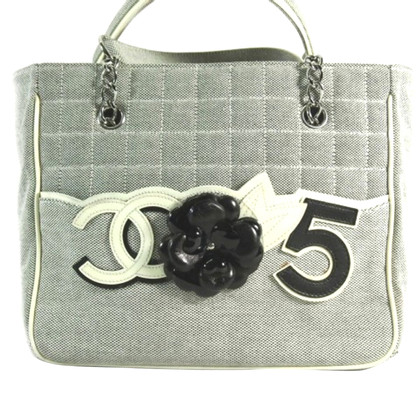 Chanel Shopper with camellia application