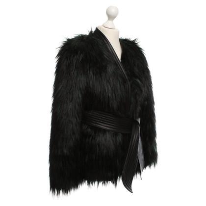 Balmain X H&M giacca di pelliccia Faux con dettagli in pelle