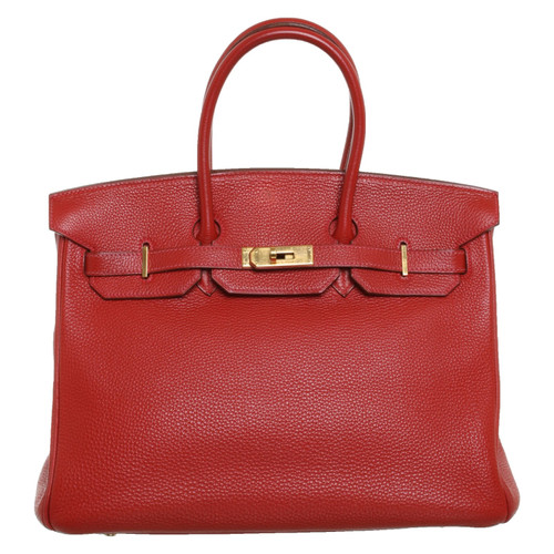 dce9a4c579e76 Hermès Birkin Bag 35 Leather in Red - Second Hand Hermès Birkin Bag ...
