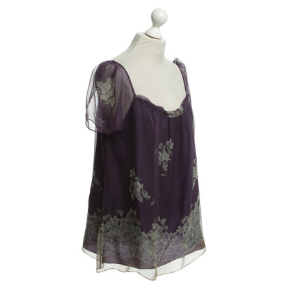 Philosophy di Alberta Ferretti Silk top in purple