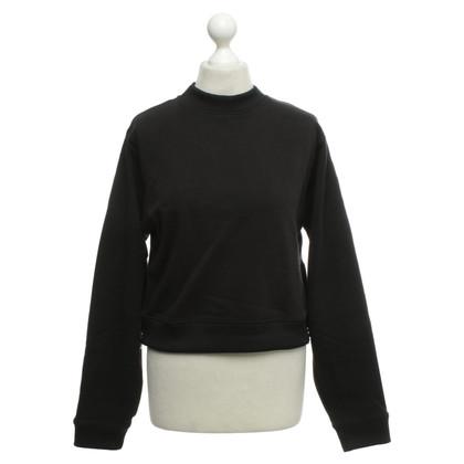 Acne Kurzer Pullover in Schwarz