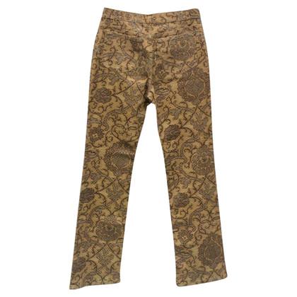 Roberto Cavalli Jeans Baroque Ocra and Gold