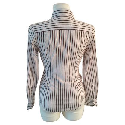 René Lezard gestreepte blouse
