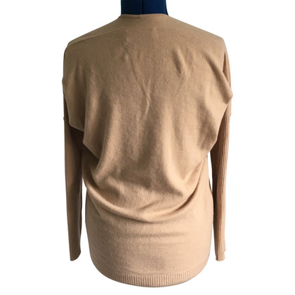 Velvet Cashmere sweater in beige