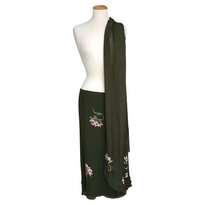 Valentino Lange zijden rok met sjaal