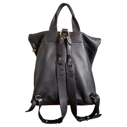 McQ Alexander McQueen Black Leather Backpack