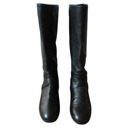 Gianvito Rossi Black flat boots