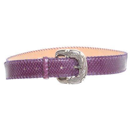 Reptile's House Python belt purple