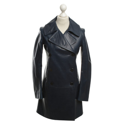 Jil Sander Leather jacket in dark blue