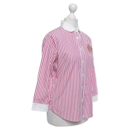 Polo Ralph Lauren camicetta a righe in rosso / bianco