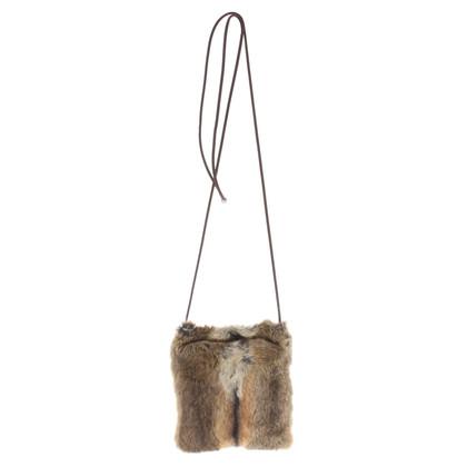Prada Shoulder bag with fur trim