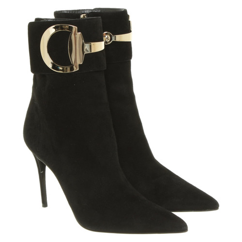 ff35ce8ba Gucci Ankle boots Suede in Black - Second Hand Gucci Ankle boots ...