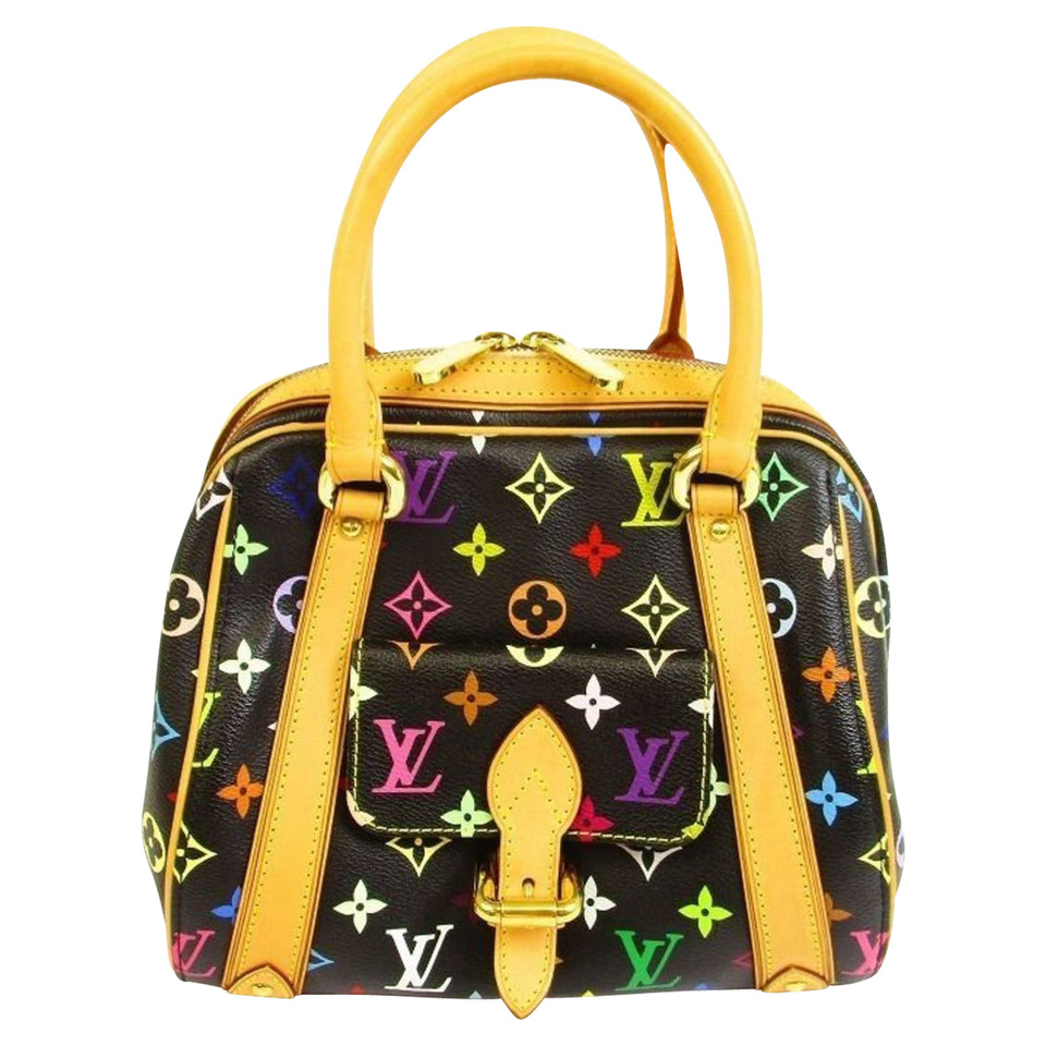 louis vuitton tasche in monogram multicolor noir second hand louis vuitton tasche in monogram. Black Bedroom Furniture Sets. Home Design Ideas