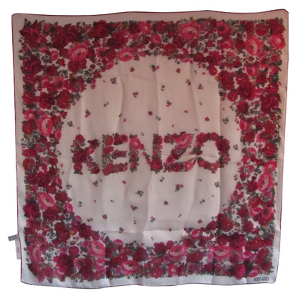 Kenzo Silk logo scarf