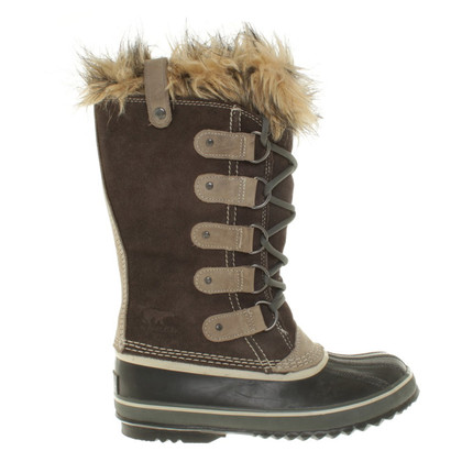 Sorel Boots with woven fur
