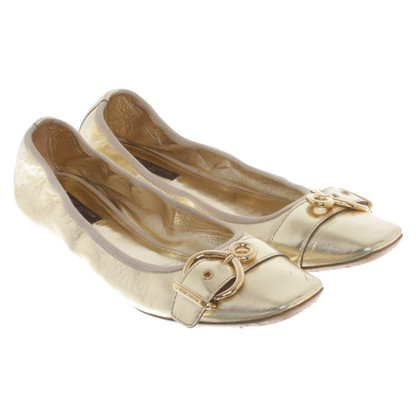 Louis Vuitton Ballerinas in gold