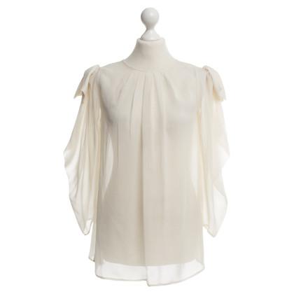 Elisabetta Franchi camicetta di seta in crema