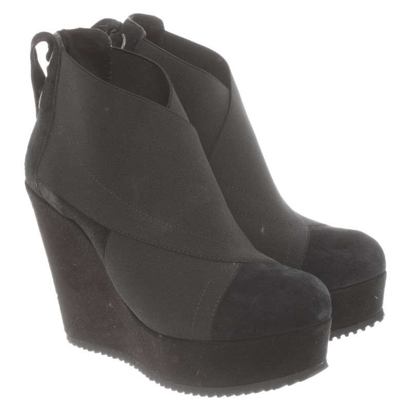 Dune London Wedges in Black - Second