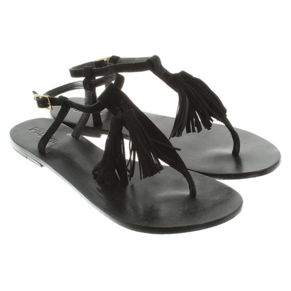 Pollini Sandals in Black
