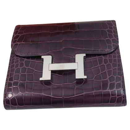 """Hermès Crocodile leather wallet """"Constance"""""""
