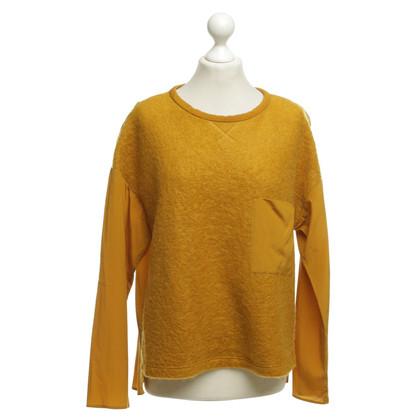 René Lezard Shirt in mustard yellow