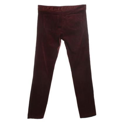 Isabel Marant Etoile Corduroy trousers in Bordeaux