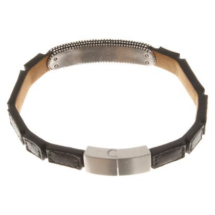 Armani Leather bangle in black