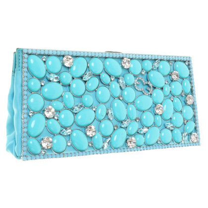 Escada Clutch in Türkis